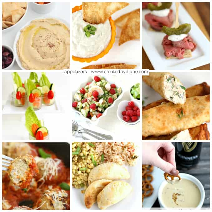 30+ Appetizer Recipes www.createdbydiane.com