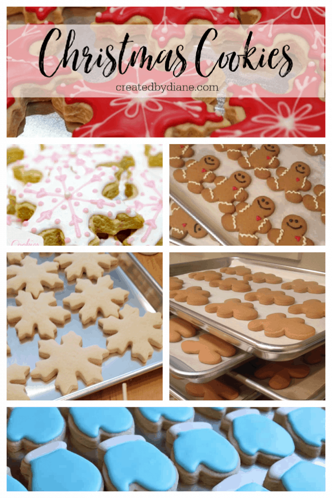 christmas cookies with instructions and recipes from createdbydiane.com