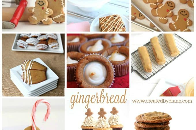 gingerbread round up of recipes from www.createdbydiane.com