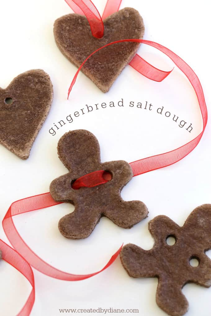 gingerbread salt dough www.createdbydiane.com