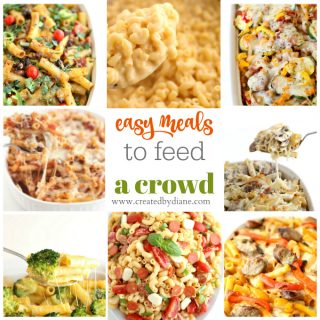 easy meals to feed a crowd