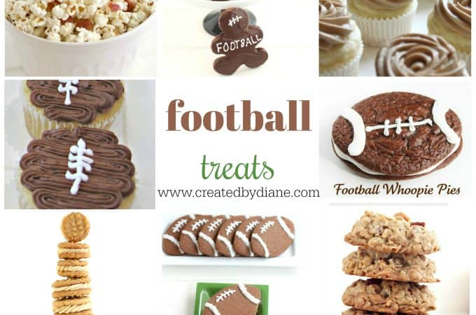 football themed desserts and snacks cookies, cupcakes, popcorn and more