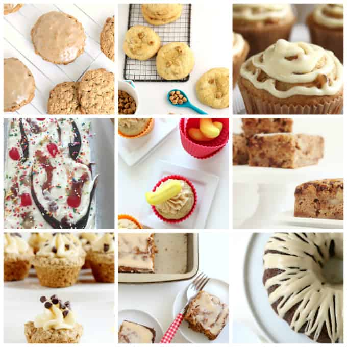 cookies, cakes and desserts with banans