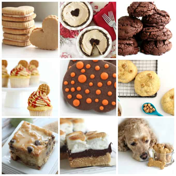peanut butter baked in cakes, cookies