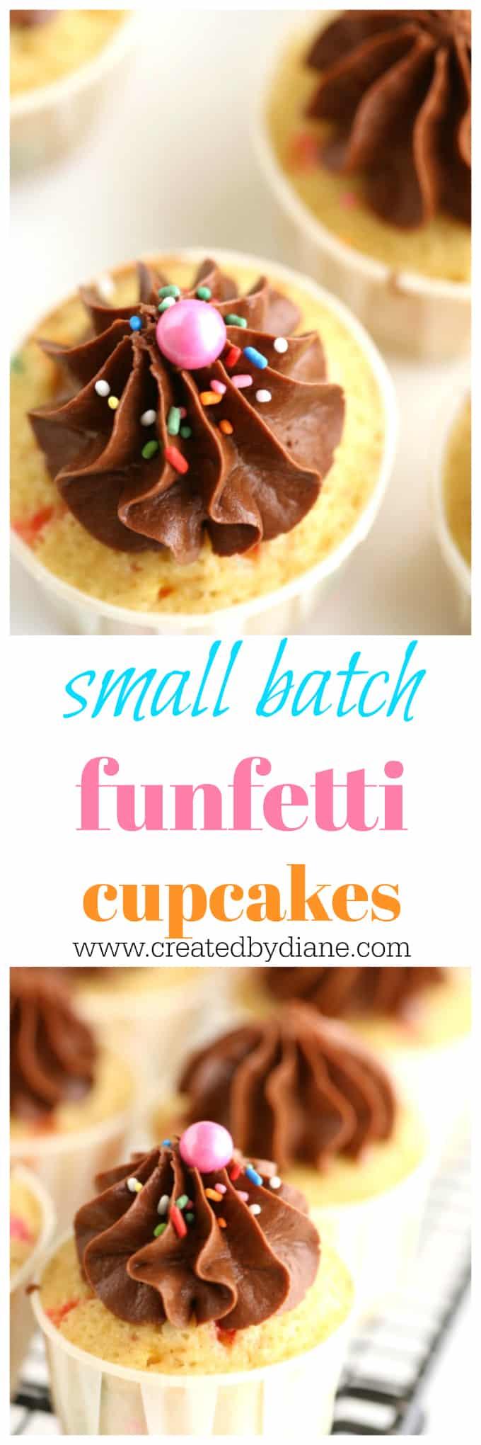 small batch funfetti cupcakes www.createdbydiane.com