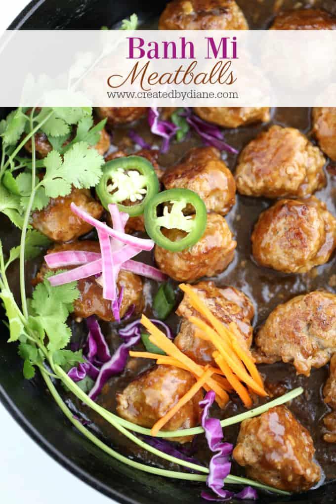 Banh Mi Meatballs www.createdbydiane.com