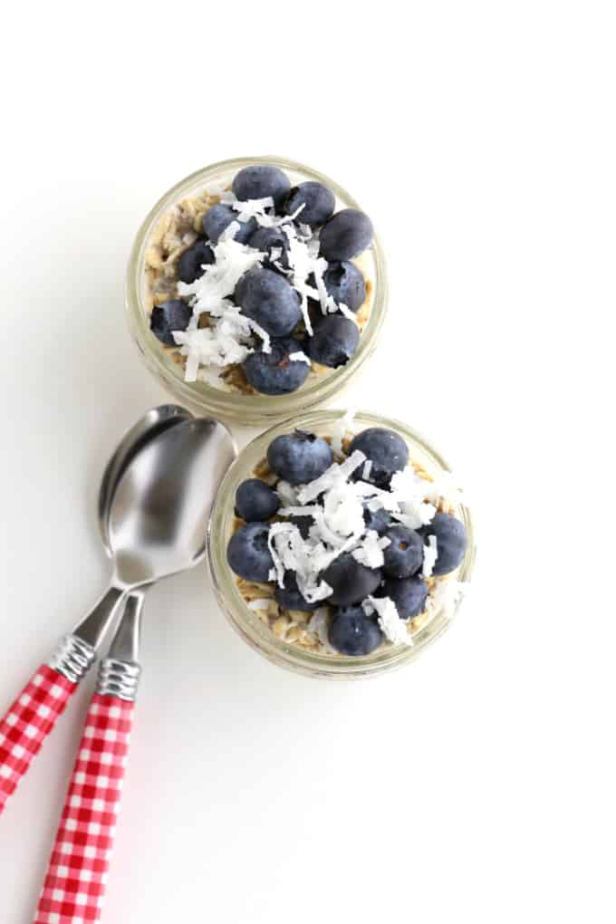 blueberry and coconut oats, easy breakfast www.createdbydiane.com