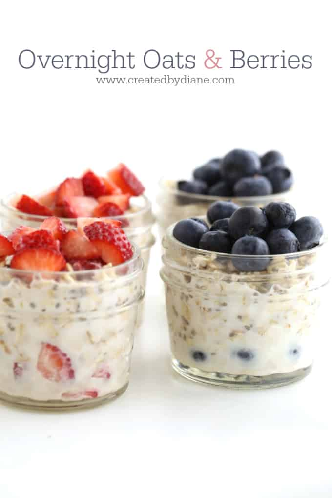 overnight oats and berries www.createdbydiane.com