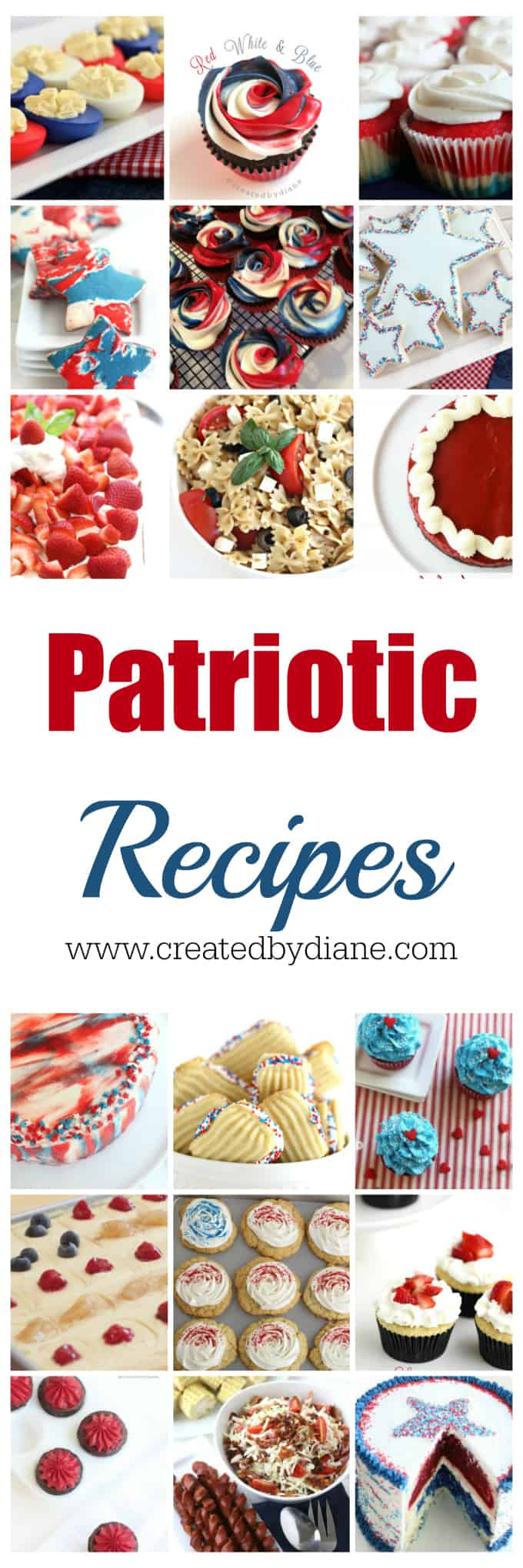 patriotic recipes perfect all summer long, all things red white and blue www.createdbydiane.com
