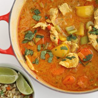 low carb thai curry chicken recipe www.createdbydiane.com