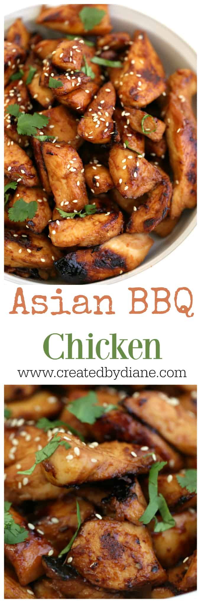 Asian BBQ Chicken recipe www.createdbydiane.com