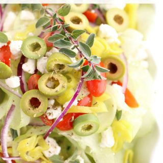 Greek Spiral Cucumber Salad