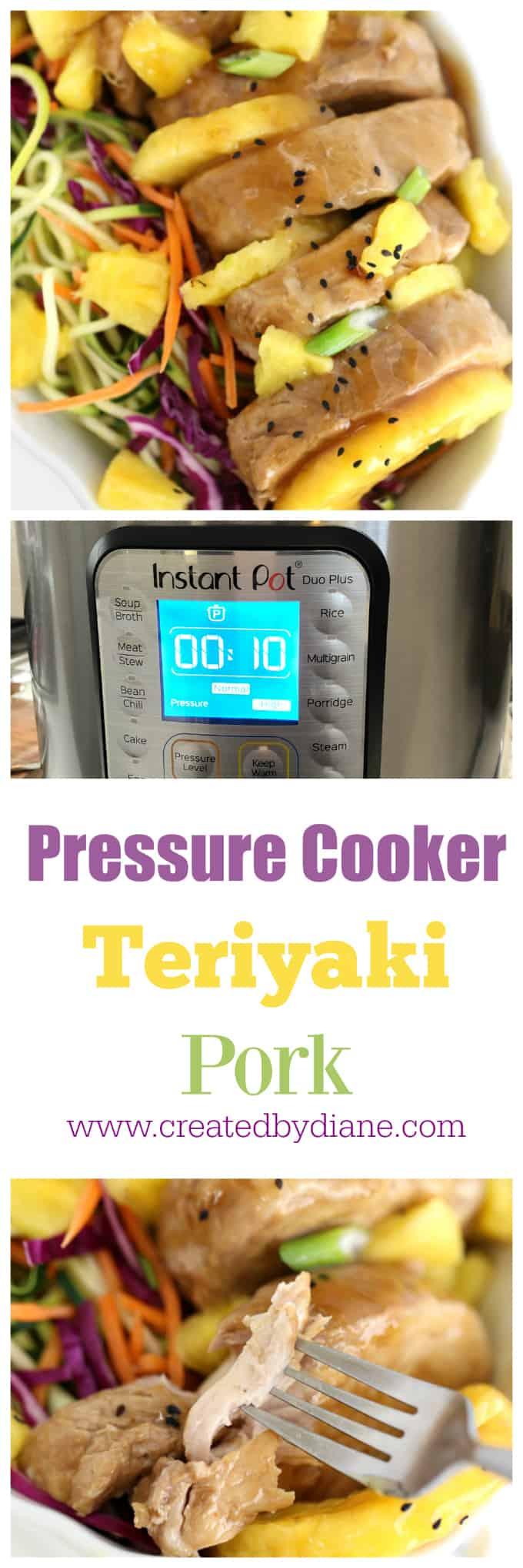 tender pressure cooker pork teriyaki www.createdbydiane.com