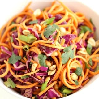 Thai Peanut Sweet Potato Noodle Salad