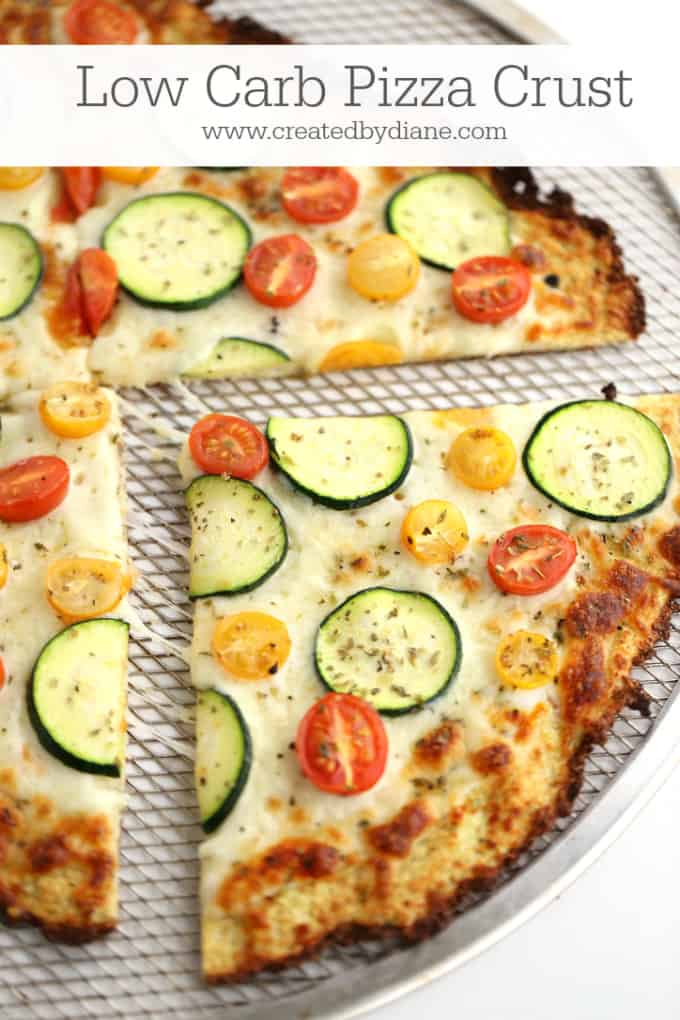 low carb pizza crust www.createdbydiane.com