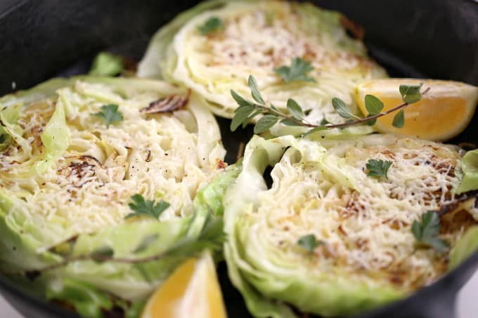 pan roasted vegetable, cabbage steaks www.createdbydiane.com