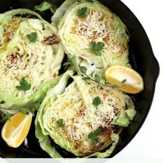 roasted cabbage steaks with lemon and parmesan www.createdbydiane.com