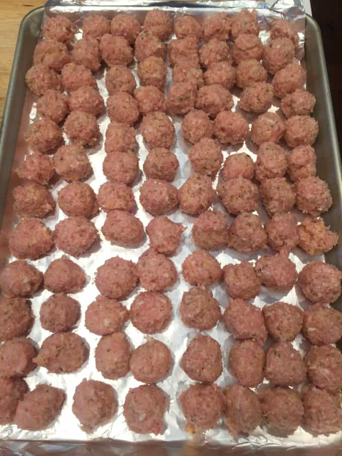 small chicken meatballs
