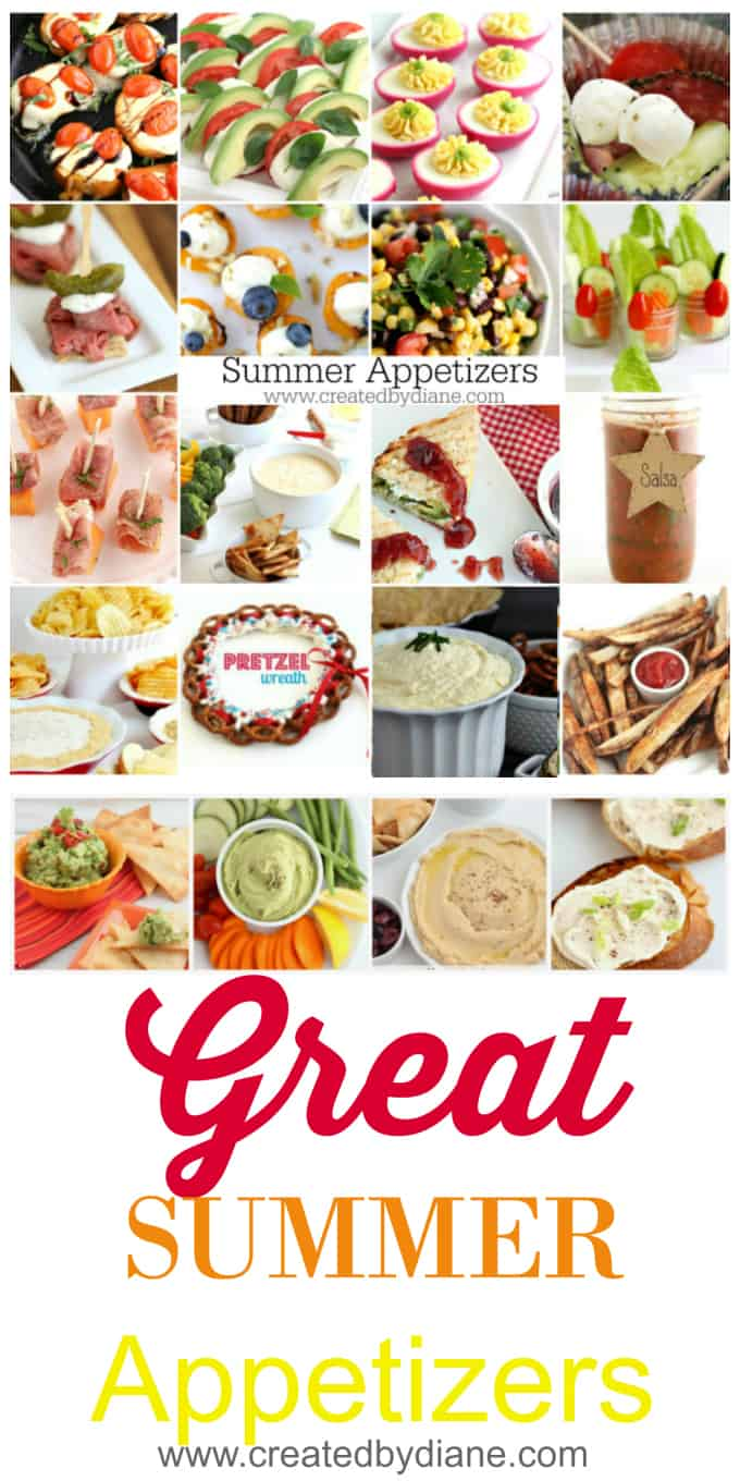 great summer appetizers www.createdbydiane.com
