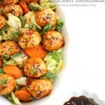 Honey Sesame Chicken Meatballs #chicken #chickenmeatballs #stickysauce #meatballs www.createdbydiane.com