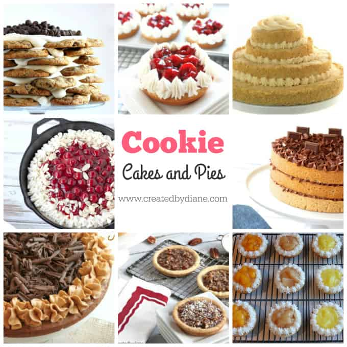 cookie cakes and pie recipes www.createdbydiane.com