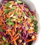 quinoa carrot salad with peanut sauce www.createdbydiane.com