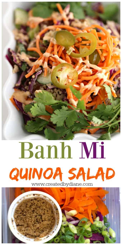 banh mi quinoa salad recipe www.createdbydiane.com