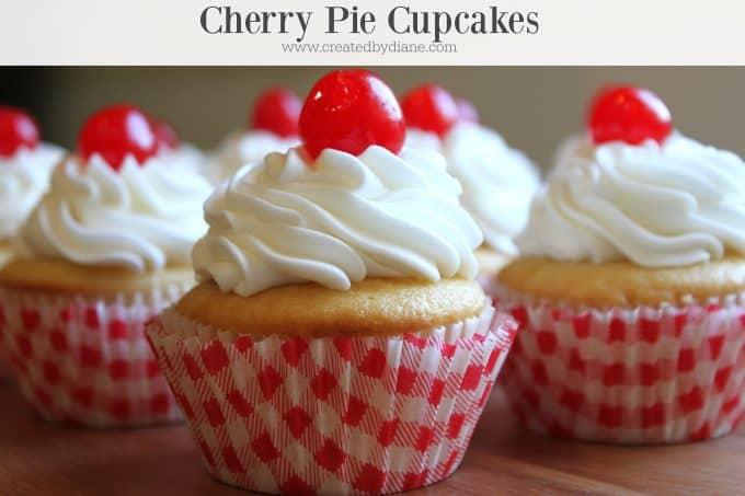 cherry pie cupcakes from www.createdbydiane.com