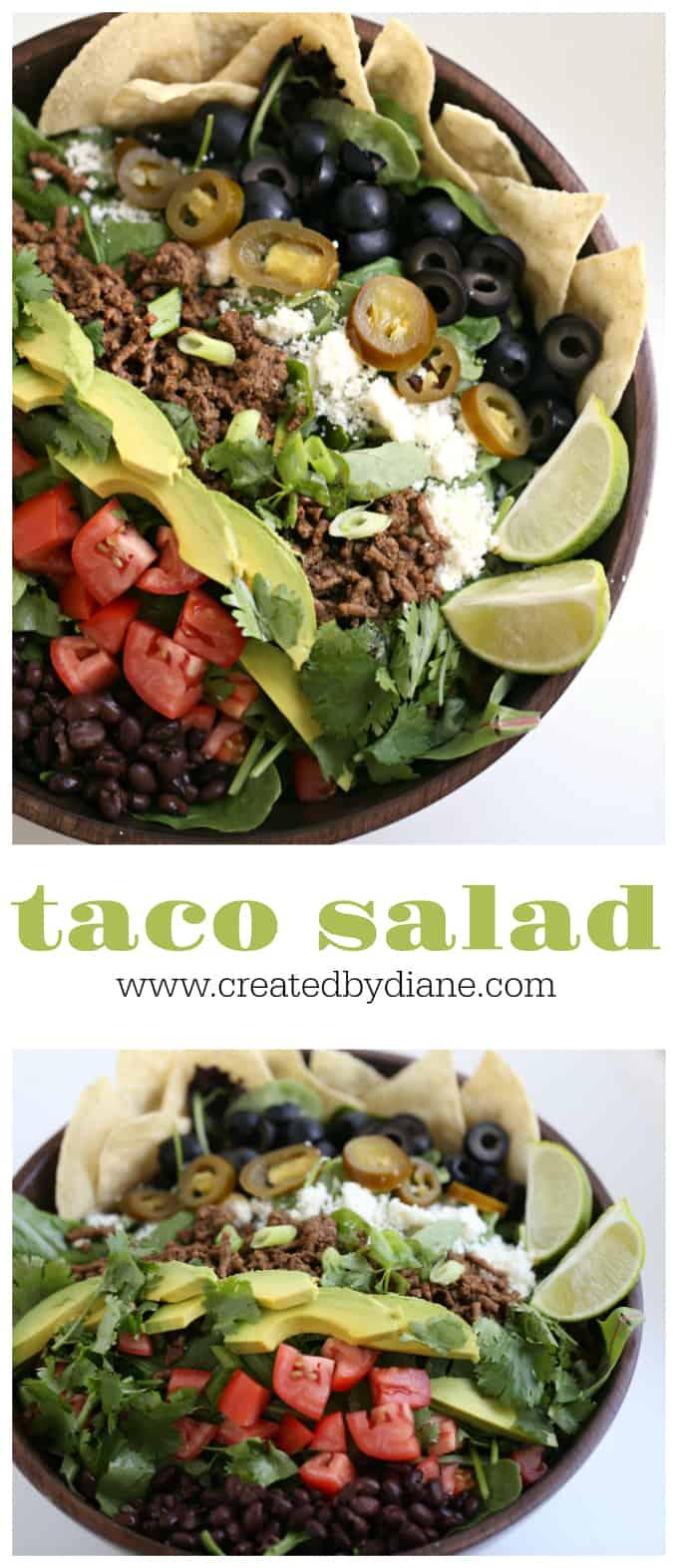 taco salad recipe www.createdbydiane.com