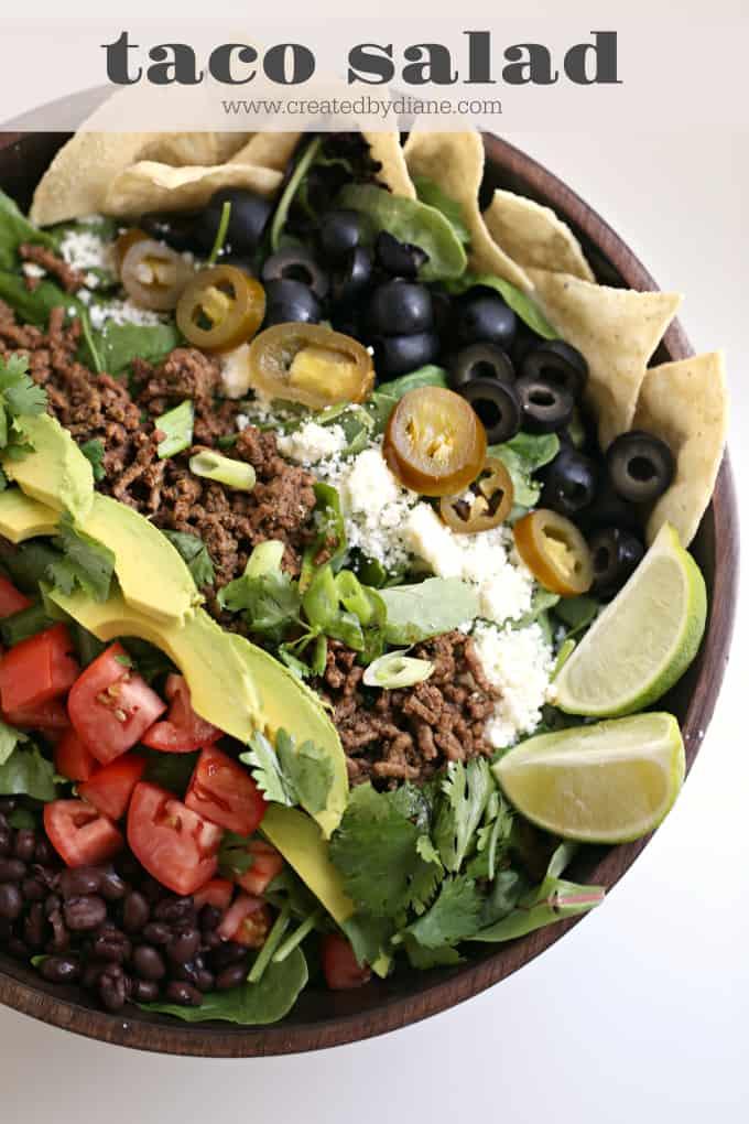taco salad www.createdbydiane.com