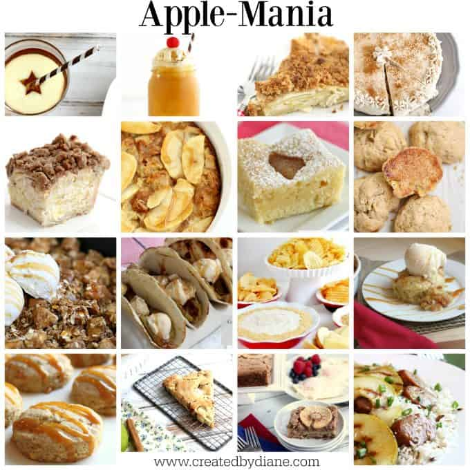 apple mania, apple recipes from www.www.createdbydiane.com