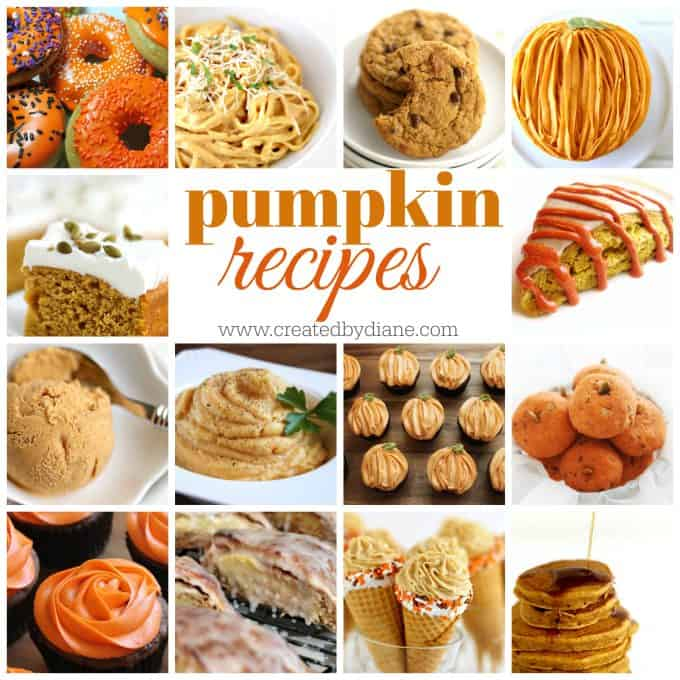 pumpkin recipes perfect for Fall-www.createdbydiane.com
