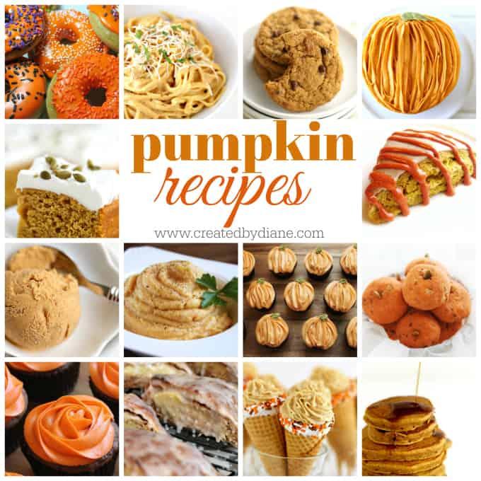 pumpkin recipes perfect for Fall-www.createdbydiane.com