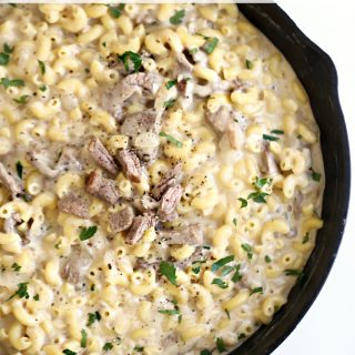 Cheesesteak Mac and Cheese www.createdbydiane.com