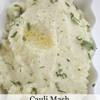 Cauliflower Mash- low carb mashed potato option www.createdbydiane.com