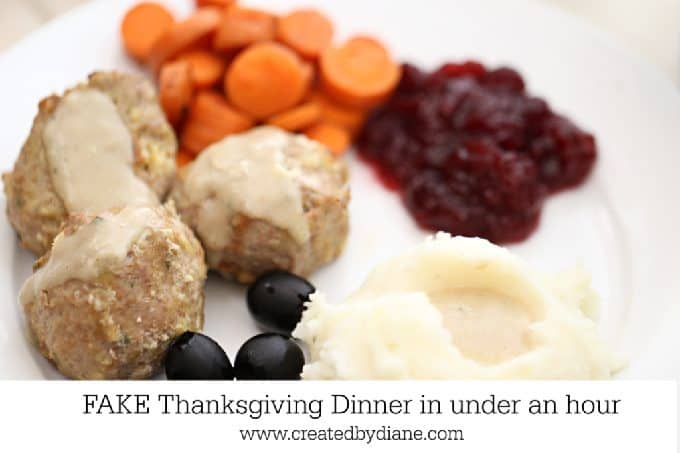Fake Thanksgiving Dinner in under and hour www.createdbydiane.com