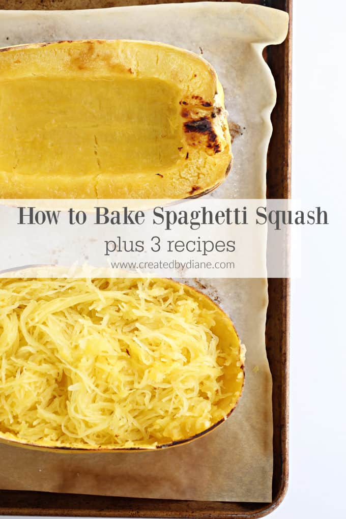How to BAKE a spaghetti squash from www.createdbydiane.com