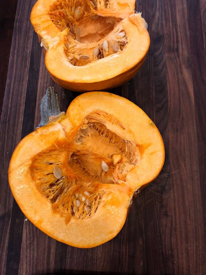 sliced jack-O-lantern pumpkin