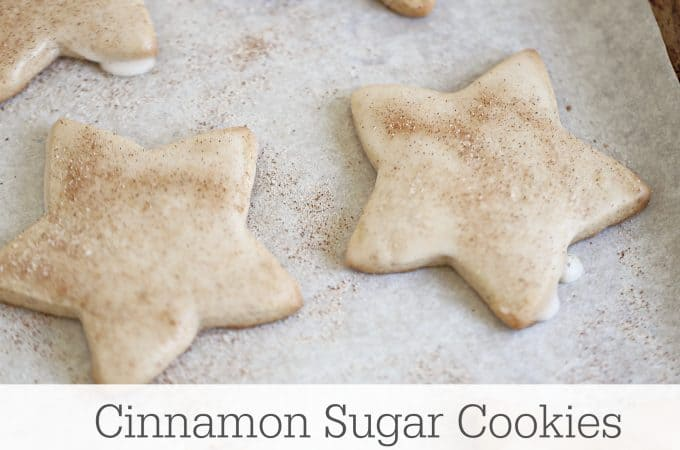cinnamon sugar star cookies with glaze icing www.createdbydiane.com