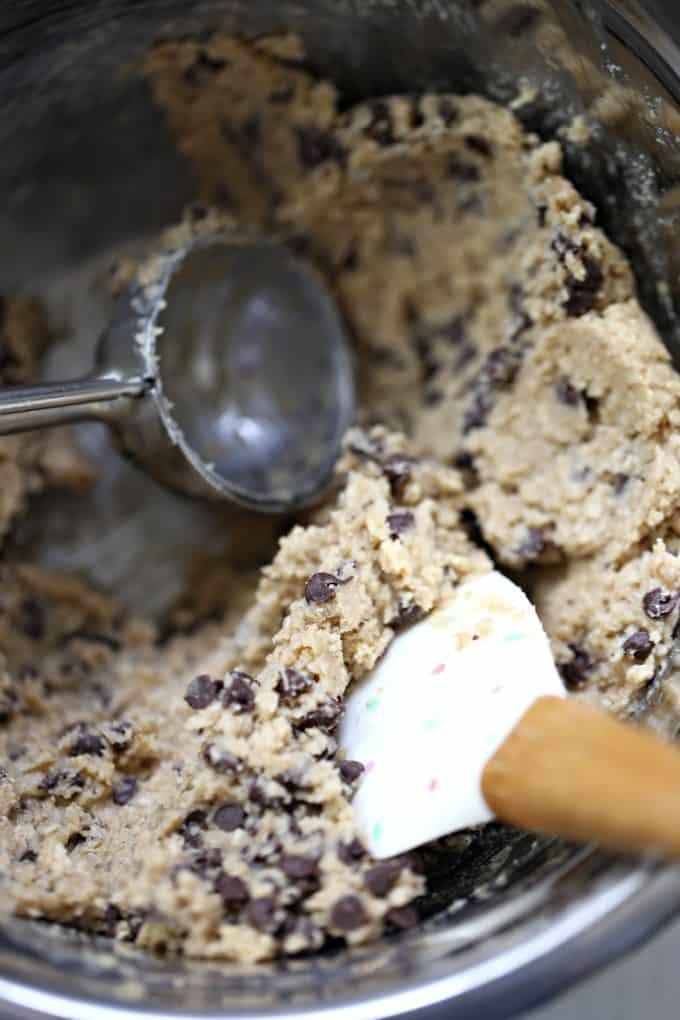 oatmeal choc chip cookie dough