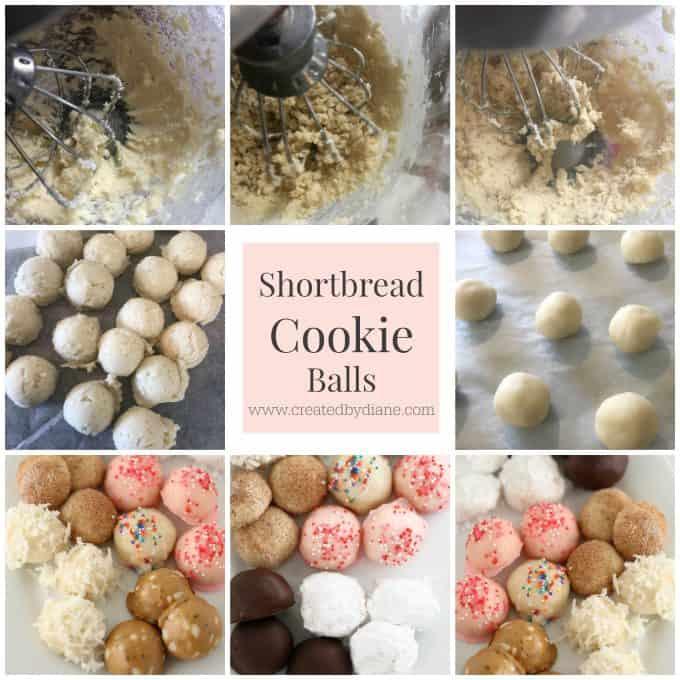 shortbread cookie balls www.createdbydiane.com
