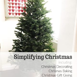 simplifying christmas including christmas decorating, christmas baking, christmas gift giving and meals www.createdbydiane.com