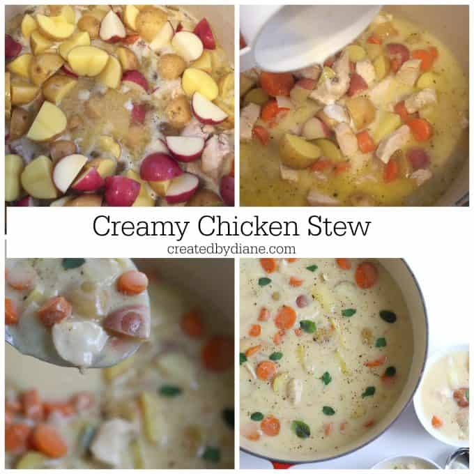 Easy Creamy Chicken Stew recipe from createdbydiane.com