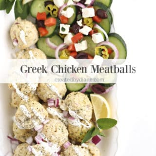Greek Chicken Meatballs createdbydiane.com