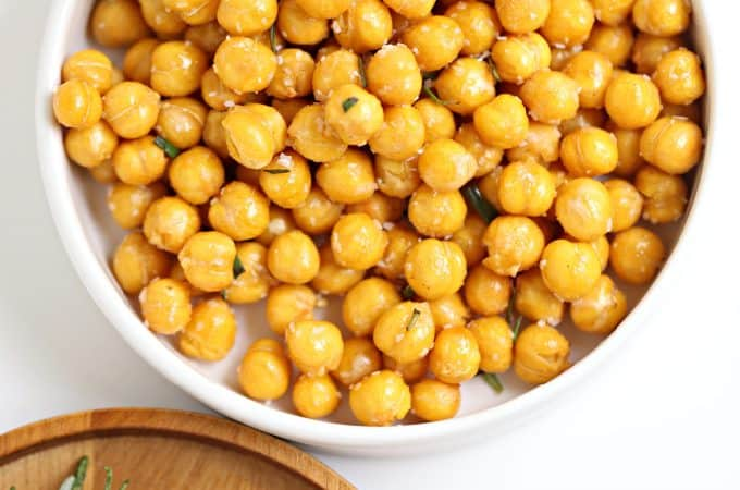 garlic rosemary chick peas air fryer or oven createdbydiane.com