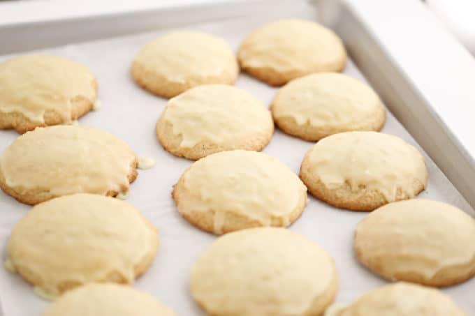 lemon cake cookie recipe with lemon icing from createdbydiane.com