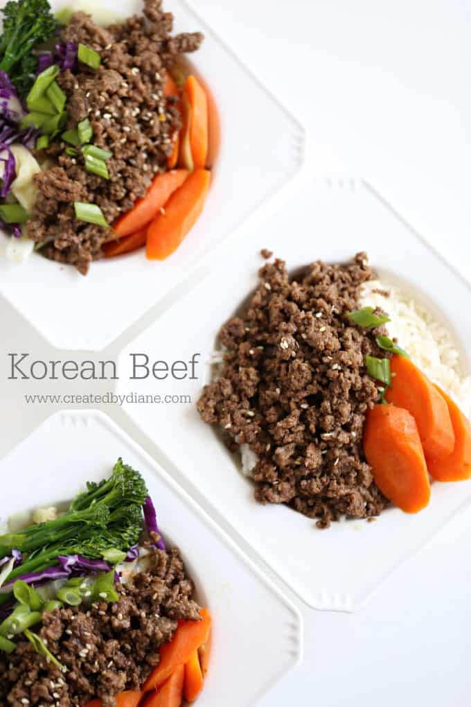 Korean Beef Recipe www.createdbydiane.com
