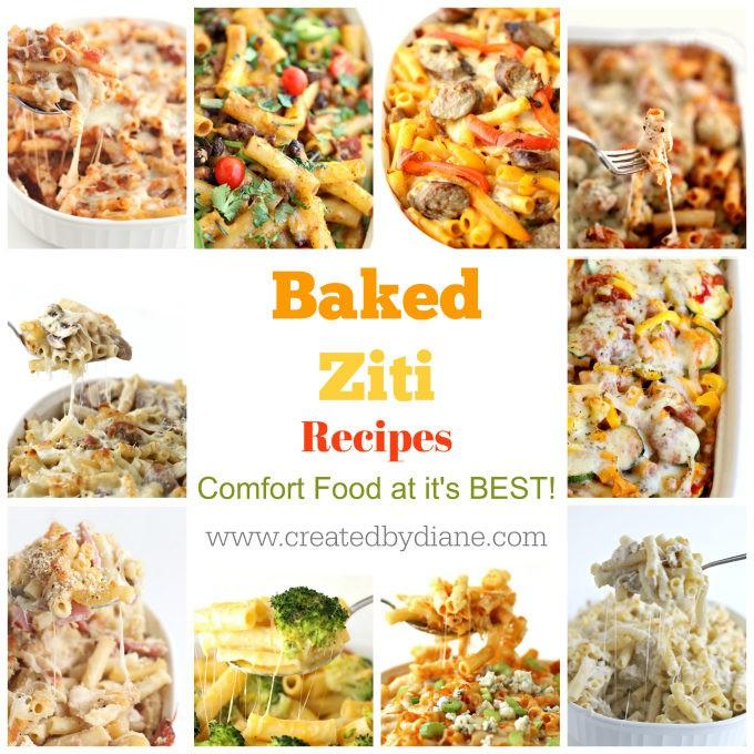 baked ziti recipes www.createdbydiane.com