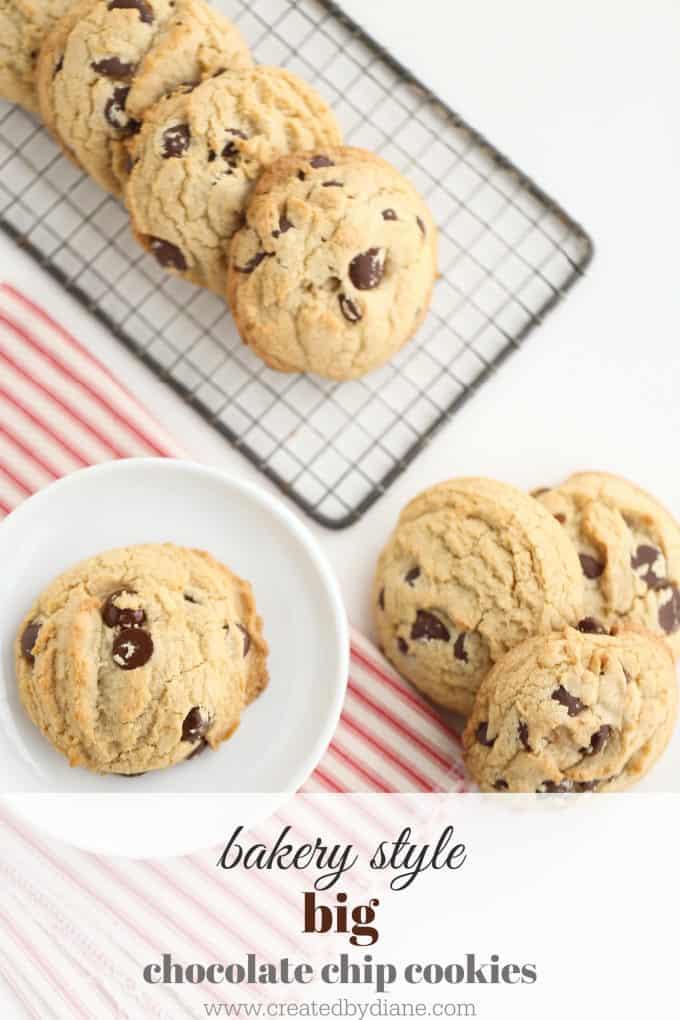 bakery chocolate chip cookies www.createdbydiane.com