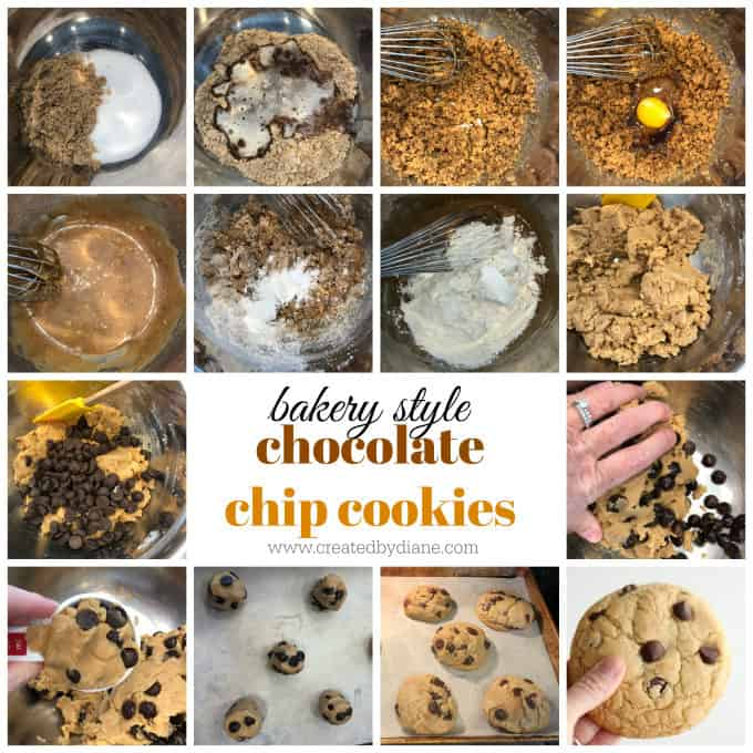 bakery style choc chip cookies from www.createdbydiane.com
